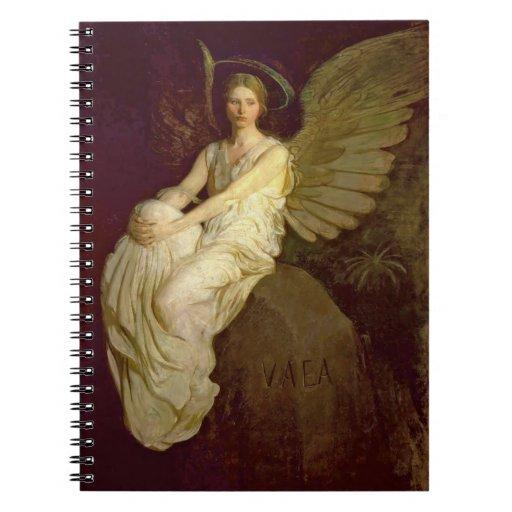 Vintage hermoso del ángel cuadernos