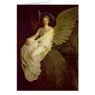Vintage hermoso del ángel tarjeta de felicitación