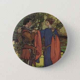 Vintage Hero Prince Knight Shining Armor Princess Button