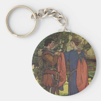 Vintage Hero Prince Knight Shining Armor Princess Keychain