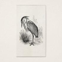 Vintage Heron Bird Personalized Retro Birds Herons