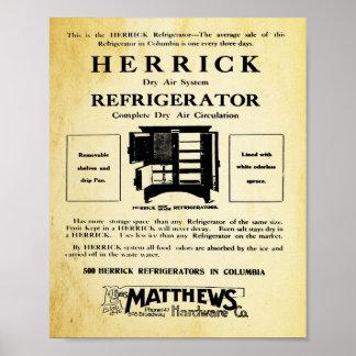 Vintage Herrick Refrigerator Print