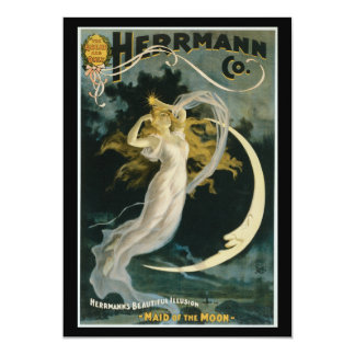 Vintage Herrmann Maid of the Moon Poster Card