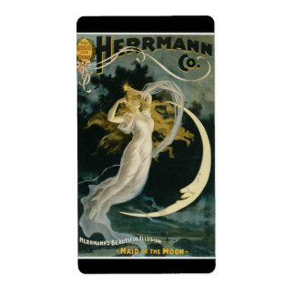 Vintage Herrmann Maid of the Moon Poster Label
