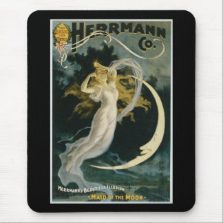 Vintage Herrmann Maid of the Moon Poster Mouse Pad