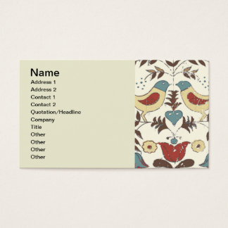 Vintage Hex Sign Amish Bird Country Business Card