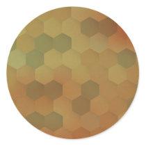 Vintage hexagon honeycomb pattern classic round sticker