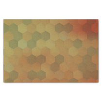 Vintage hexagon honeycomb pattern tissue paper