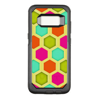 Vintage Hexagon Pattern OtterBox Commuter Samsung Galaxy S8 Case