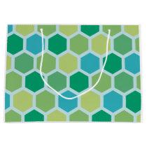 Vintage hexagonal pattern large gift bag