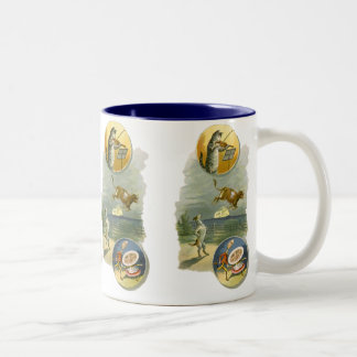 Vintage Hey Diddle Diddle Cat, Fiddle, Cow, Moon Mug