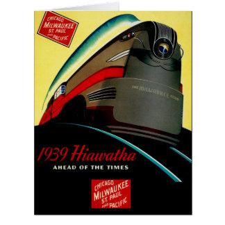 Vintage Hiawatha Streamlined Train Greeting Card