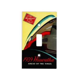 Vintage Hiawatha Streamlined Train Light Switch Cover