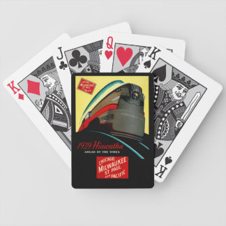 Vintage Hiawatha Streamlined Train Bicycle Playing Cards