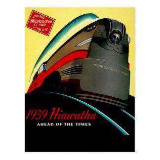 Vintage Hiawatha Streamlined Train Postcard