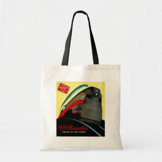 Vintage Hiawatha Streamlined Train Tote Bag
