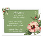 Vintage Hibiscus Floral Wedding Reception Card Business Card Template