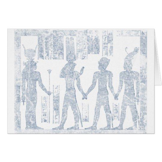 Vintage Hieroglyphs Card