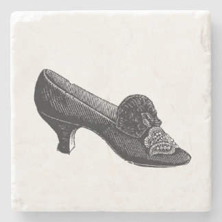 Vintage High Heel Shoe Stone Coaster