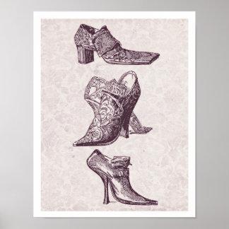 Vintage High Heels Poster