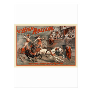 vintage-high-rollers-poster postcard
