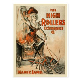 vintage-high-rollers-poster. postcard