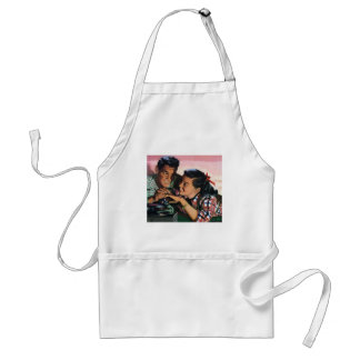 Vintage High School Sweet Hearts, Promise Ring Adult Apron
