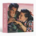 Vintage High School Sweet Hearts, Promise Ring Vinyl Binder
