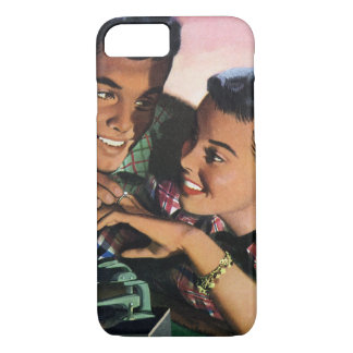 Vintage High School Sweet Hearts, Promise Ring iPhone 8/7 Case