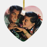 Vintage High School Sweet Hearts, Promise Ring Christmas Tree Ornament
