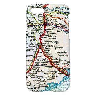 Vintage Highway Map Dallas Houston Austin iPhone 7 Case