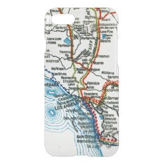 Vintage Highway Map Los Angeles and San Diego iPhone 8/7 Case
