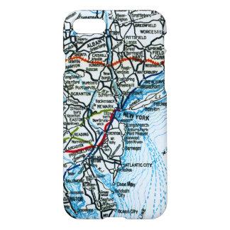 Vintage Highway Map New York City Philadelphia iPhone 7 Case