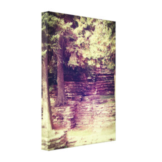 Vintage Hillside Stoneworks Canvas Print