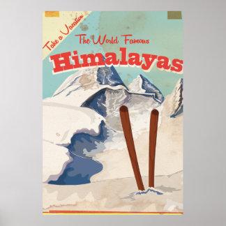 Vintage Himalayas Travel Poster