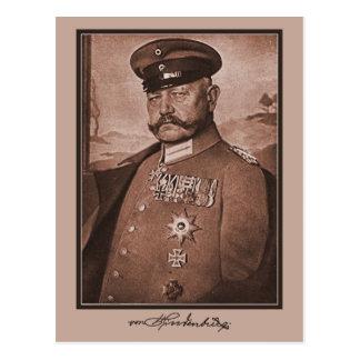 Vintage Hindenburg, decoraciones, autógrafo Postal