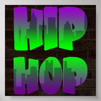 Vintage Hip Hop del tigre 80s de Corey Poster