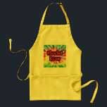 """Vintage Hippies Rock Tie Dye Apron<br><div class=""""desc"""">Hippies Rock,  Dude!  This design features the expression &quot;Hippies Rock&quot; highlighted with peace symbols and superimposed over a tie dye background.  Find this rockin&#39; hippy design on t-shirts,  bags,  magnets,  stickers,  mousepads and more.</div>"""
