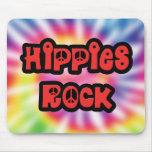 Vintage Hippies Rock Tie Dye Mousepad