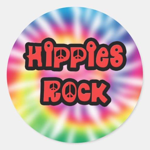 Vintage Hippies Rock Tie Dye Sticker