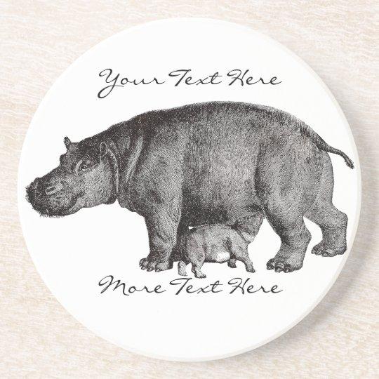 Vintage Hippo Coaster