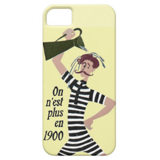 Vintage Hipster 1900s French Yellow Bathing iPhone SE/5/5s Case
