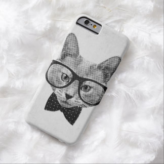 Vintage hipster cat barely there iPhone 6 case