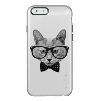 Vintage hipster cat incipio feather shine iPhone 6 case