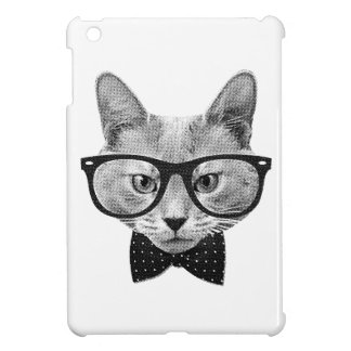 Vintage hipster cat cover for the iPad mini