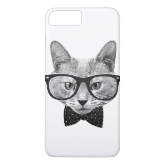 Vintage hipster cat iPhone 7 plus case