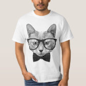 Vintage hipster cat tee shirts