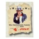 Vintage Hipster Fourth Of July Celebration Invite (<em>$2.06</em>)