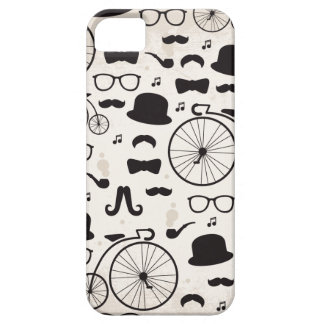 Vintage hipster geek mustache pattern iPhone 5/5S case
