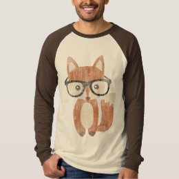 Vintage Hipster Glasses Cute Baby Fox T-Shirt